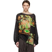 Acne Studios Black Figural Sweater