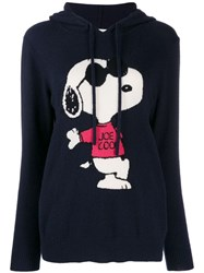 Chinti And Parker Cashmere Hooded Jumper Blue