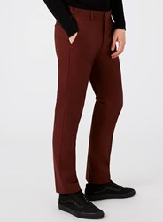 Topman Red Burgundy Skinny Fit Suit Trousers