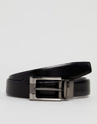 Ted Baker Crafti Leather Reversible Belt Black