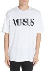 Versus By Versace Bruce Weber Graphic T Shirt B1001 White