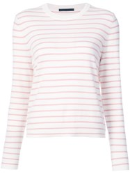 Jenni Kayne Striped Round Neck Jumper Nude And Neutrals
