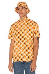 Gitman Brothers Vintage S S Button Down Orange