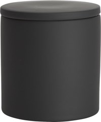 Cb2 Rubber Coated Black Canister