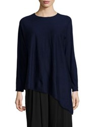 Eileen Fisher Cashmere Asymmetrical Tunic Blue Steel Midnight
