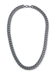 Topman Grey Rubberised Chain Necklace