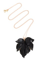 Annette Ferdinandsen M'o Exclusive Fancy Leaf Necklace Black