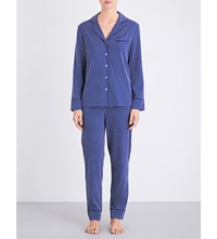 Stella Mccartney Poppy Snoozing Stretch Silk Pyjama Set Dark Ink