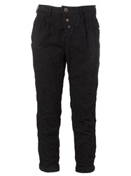 Individual Sentiments Buttoned Fly Cropped Trousers Black