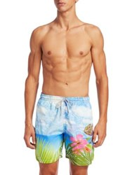 Saks Fifth Avenue Collection Tropical Swim Trunks Multi