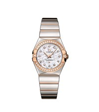 Omega Constellation Mother Of Pearl Quartz Watch Unisex Silver