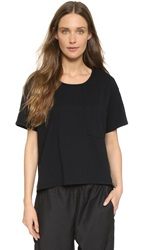 Oak Slouch Pocket Tee Black