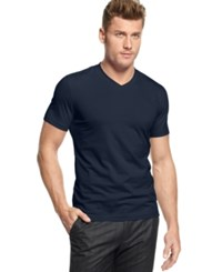 Alfani Big And Tall Stretch V Neck T Shirt Blue Viola