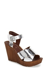 Topshop 'Worldie' Wedge Sandal Women Silver