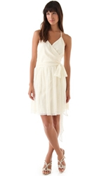 Joanna August Short Lace Dress Ivory