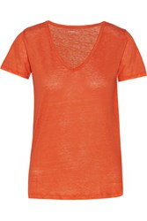 Majestic Linen Top Orange