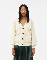 Just Female Sophie Ribbed Cardigan Antique White