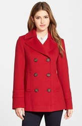 Women's Fleurette Wool Peacoat Red