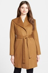 Women's Fleurette Belted Cashmere Wing Collar Wrap Coat
