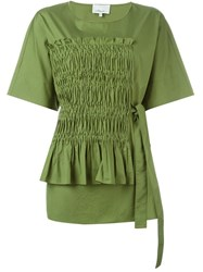 3.1 Phillip Lim Ruched Detail Blouse Green