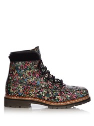 Tabitha Simmons Bexley Leather Ankle Boots Black Multi