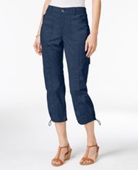 Styleandco. Style Co. Petite Bungee Hem Cargo Capri Pants Only At Macy's New Uniform Blue