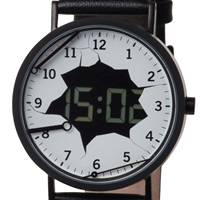 Projects Watches Digital Destruction Watch Black Leather Band