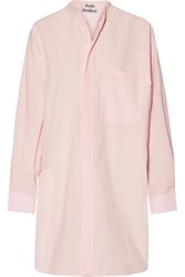 Acne Studios Siva Cotton Poplin Shirt Dress Pastel Pink