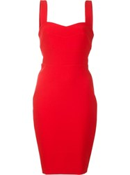 Likely Sweetheart Neck Fitted Dress Red