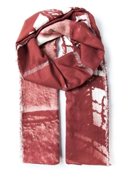 Lost And Found 'Maze' Scarf Red