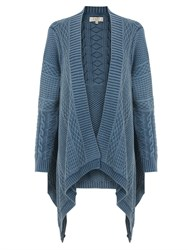 East Denim Cable Cardi River