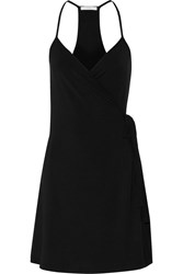 Tart Collections Ishana Stretch Modal Wrap Mini Dress Black