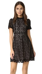 Bb Dakota Adelina Mock Neck Lace Dress Black