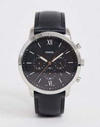 Fossil Fs5452 Neutra Chrono Leather Watch Black