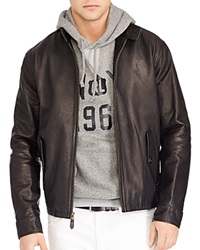 Polo Ralph Lauren Leather Barracuda Jacket Black