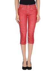 Frankie Morello Denim Capris Red