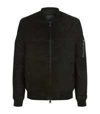Allsaints State Suede Puffer Jacket Male Black