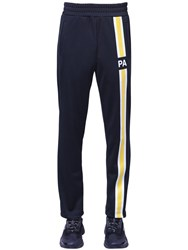 Palm Angels Monogram Tech Jersey Track Pants Black