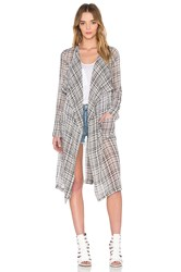 Bcbgeneration Kimono Trench Black And White