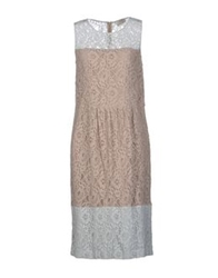 Nina Knee Length Dresses Dove Grey