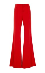 Ms Min Satin Bell Bottom Pants Red