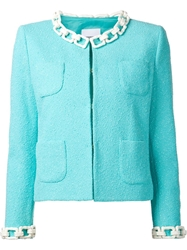 Moschino Cheap And Chic Chain Detail Boucle Jacket
