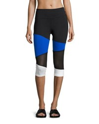 Marika Tek Kendall Colorblock Performance Leggings Black Blue