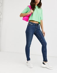 Noisy May Lucy High Waist Skinny Jeans Blue