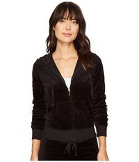Juicy Couture Robertson Velour Jacket Pitch Black Women's Coat