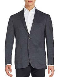 John Varvatos Long Sleeve Two Button Sportcoat Grey