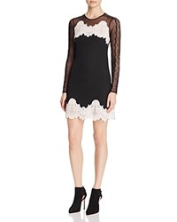 Sandro Kyra Mixed Lace Dress 100 Bloomingdale's Exclusive Black