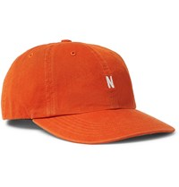 Norse Projects Logo Embroidered Cotton Twill Baseball Cap Orange