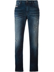 Diesel Cropped Washed Jeans