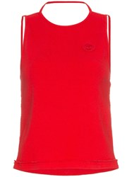 Telfar Sleeveless Halter Neck T Shirt Red